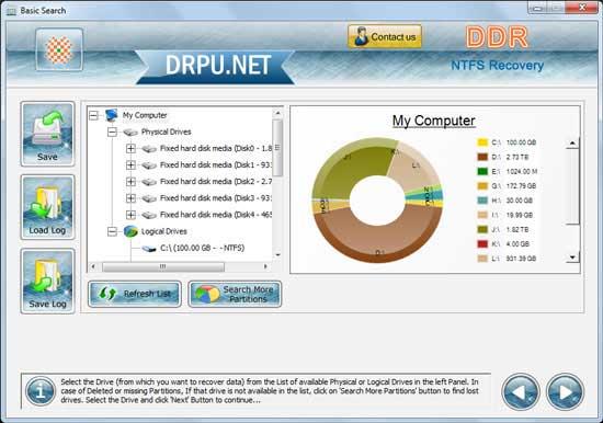 NTFS Unerase screenshot