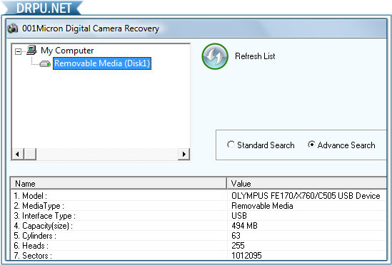 Recover Digital Camera Photos screenshot